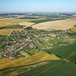 Letecký snímok - obec Hájske