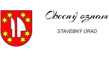 Obecný oznam – Stavebný úrad Hájske